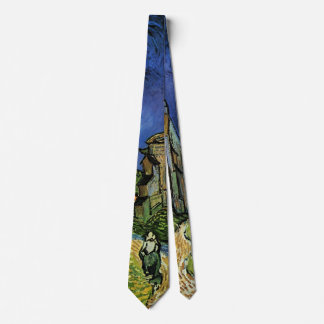 The Church at Auvers by Vincent van Gogh Tie