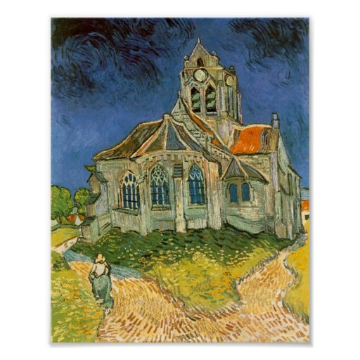 The Church at Auvers Poster