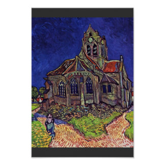 The Church At Auvers-Sur-Oise,  By Vincent Van Poster