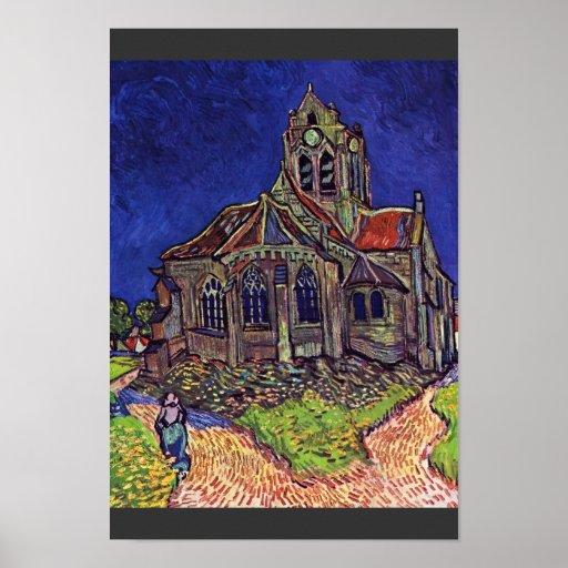 The Church At Auvers-Sur-Oise,  By Vincent Van Print