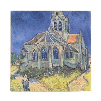 The Church at Auvers-sur-Oise Maple Wood Coaster