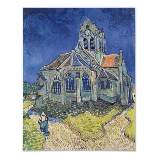 The Church at Auvers-sur-Oise Poster