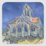 The Church at Auvers-sur-Oise Square Stickers