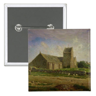 The Church at Greville, c.1871-74 Pinback Buttons