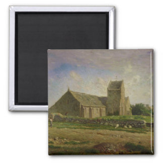The Church at Greville, c.1871-74 Square Magnet
