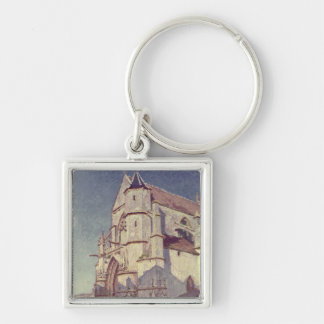 The Church at Moret 1894 Key Chain