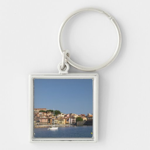 The church Eglise Notre Dame des Anges, our lady 2 Key Chains