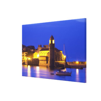 The church Eglise Notre Dame des Anges, our lady Stretched Canvas Print
