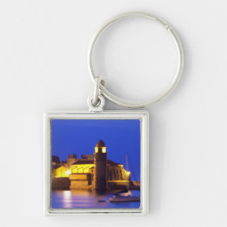 The church Eglise Notre Dame des Anges, our lady Key Chain