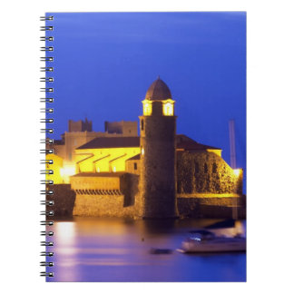 The church Eglise Notre Dame des Anges, our lady Spiral Note Books