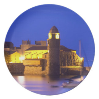 The church Eglise Notre Dame des Anges, our lady Party Plate