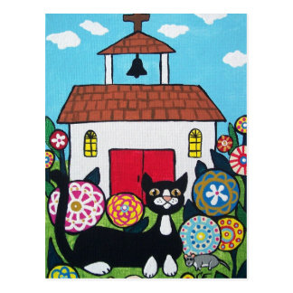The Church Guardians Cat and Mouse Postcard