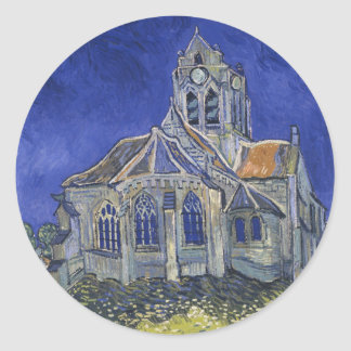 The Church in Auvers by Vincent van Gogh Stickers