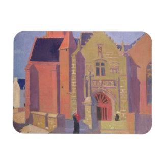 The Church of Notre-Dame de la Clarte Rectangular Photo Magnet