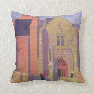 The Church of Notre-Dame de la Clarte Throw Cushions