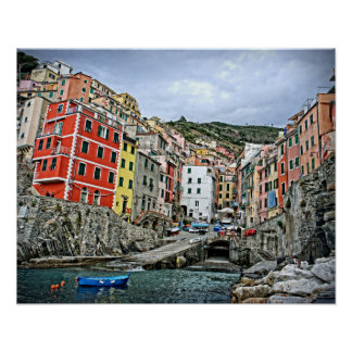 The Cinque Terre - Riomaggiore, Italy Poster 20x16