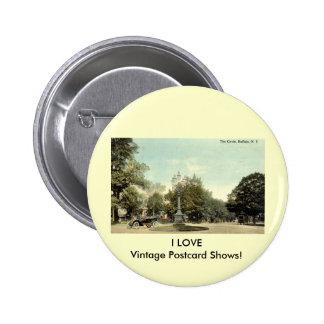 The Circle, Buffalo NY 1913 Vintage Pinback Buttons