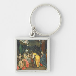 The Circumcision of Christ, 1590 (oil on canvas) Silver-Colored Square Key Ring