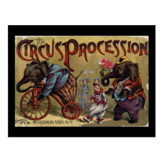 The Circus Procession Front Cover Postcard