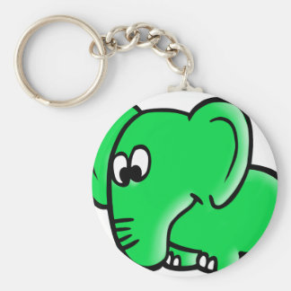The citizen of Berlin elephant for Hosent Basic Round Button Key Ring