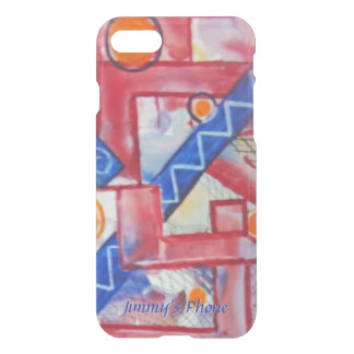 The City Abstract Watercolor Your Name iPhone 7 Case