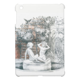 the city fountain with figurines of girls iPad mini cover