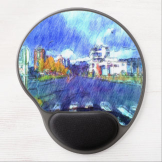 The city from a car gel mouse pad