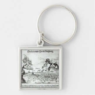 The City of Augsburg forced to accept Catholic Silver-Colored Square Key Ring