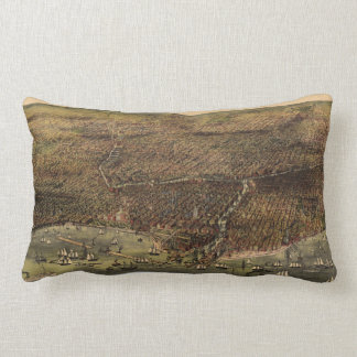 The City of Chicago by Ives (1892) Lumbar Cushion