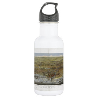 The City of Chicago Illinois from 1874 18oz Water Bottle