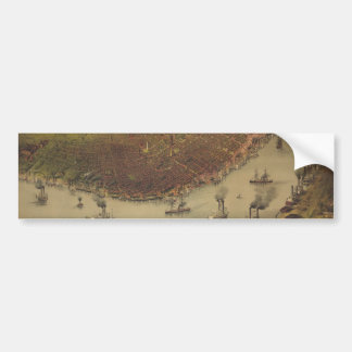 The City of New Orleans Louisiana from 1885 Car Bumper Sticker