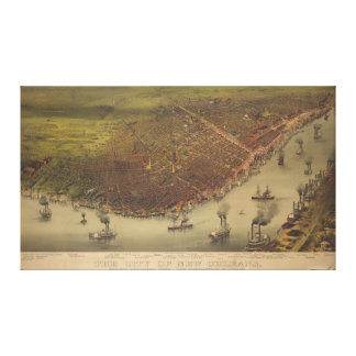 The City of New Orleans Louisiana from 1885 Stretched Canvas Print