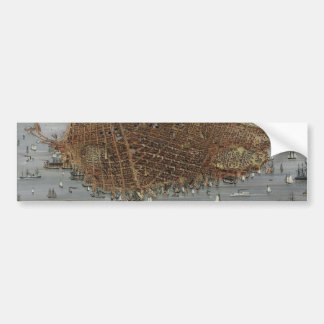 The City of San Francisco California from 1878 Car Bumper Sticker