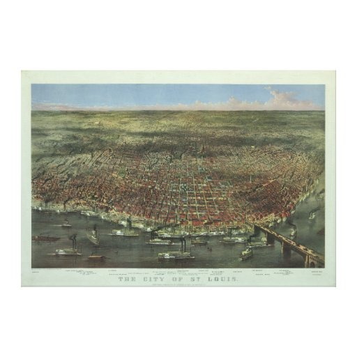 The City of St. Louis Missouri from 1874 Canvas Print