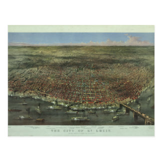The City of St. Louis Missouri from 1874 Postcard