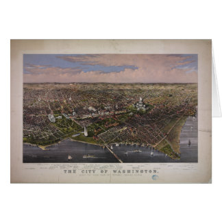 The City of Washington D.C. from 1880 Card