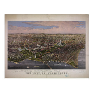 The City of Washington D.C. from 1880 Postcard