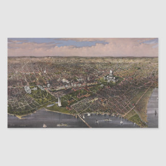 The City of Washington D.C. from 1880 Rectangular Sticker