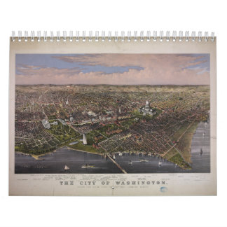 The City of Washington D.C. from 1880 Wall Calendar