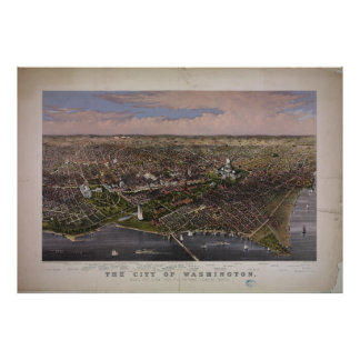 The City of Washington D.C. in 1880 Poster