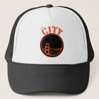 The City - Orange Trucker Hat