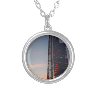 the city silver plated necklace