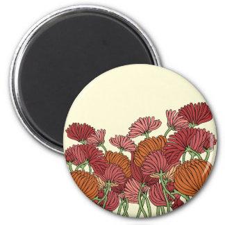 The Claasic Flower in the Garden 6 Cm Round Magnet