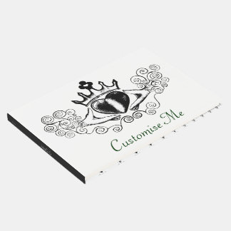 The Claddagh (Black) Guest Book