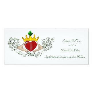 The Claddagh (Full Colour) 10 Cm X 24 Cm Invitation Card