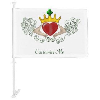 The Claddagh (Full Colour) Car Flag