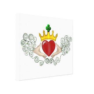 The Claddagh (Full Colour) Gallery Wrapped Canvas