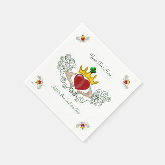 The Claddagh (Full Colour) Paper Napkin
