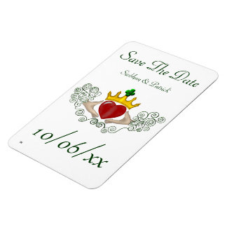 The Claddagh (Full Colour) (Save the Date) Rectangular Photo Magnet