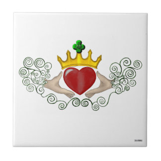 The Claddagh (Full Colour) Small Square Tile